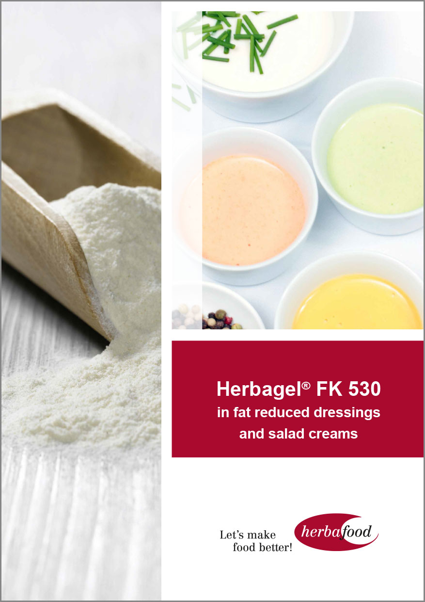 Herbagel® FK 530 in fat reduced dressings and salad creams  Format: PDF - Size: ca. 1.0 MB