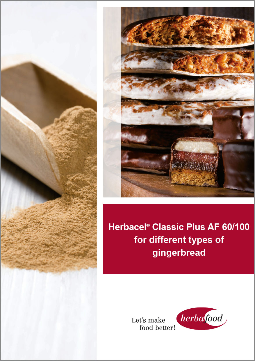 Herbacel® Classic Plus AF 60/100 in different types of gingerbread  Format: PDF - Size: ca. 1.0 MB