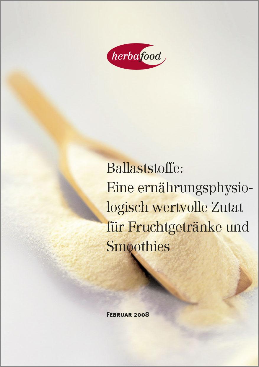 Ballaststoffe: Eine ernährungsphysiologisch wertvolle Zutat für Fruchtgetränke und Smoothies  Format: PDF - Größe: ca. 1,0 MB