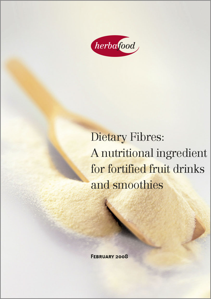 Dietary Fibres: A nutritional ingredient for fortified fruit drinks and smoothies  Format: PDF - Size: approx. 1.0 MB