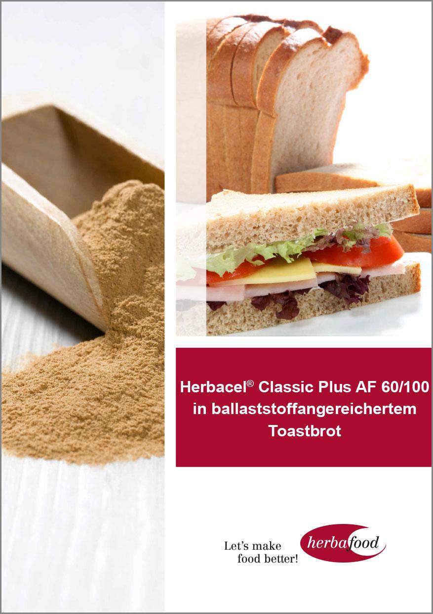 Herbacel® Classic Plus AF 60/100 in ballaststoffangereichertem Toastbrot  Format: PDF-Größe: ca. 1,0 MB