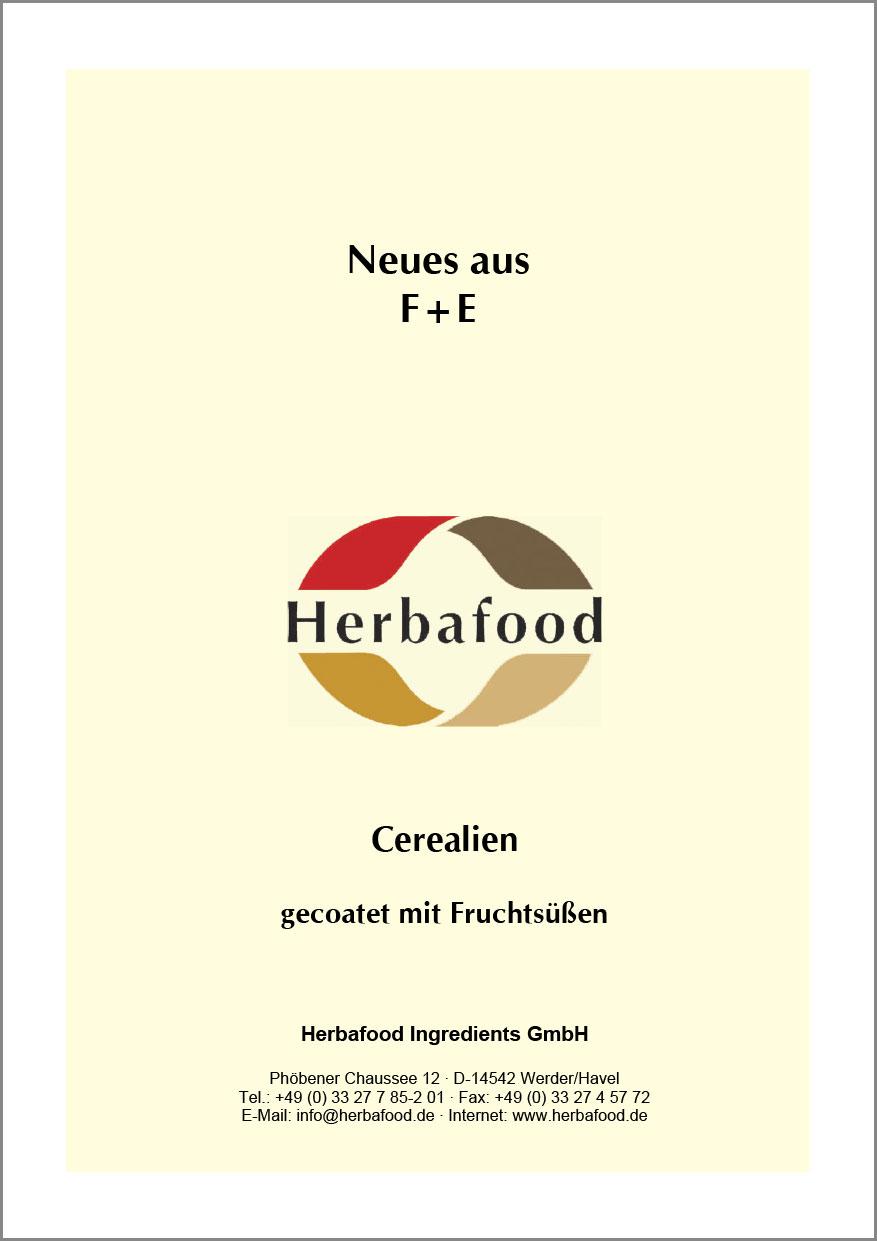 Cerealien gecoatet mit Fruchtsüßen  Format: PDF - Größe: ca. 0,4 MB