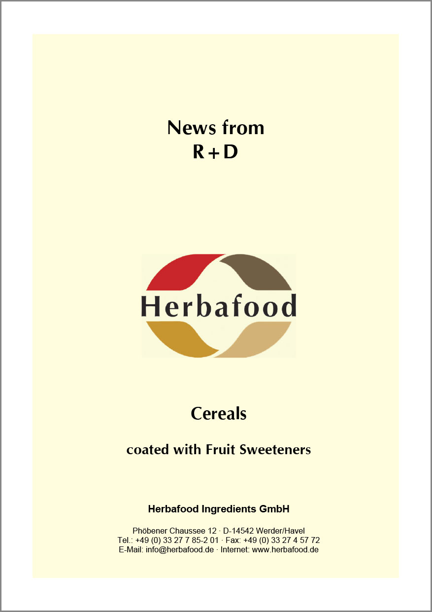 Cereals - Coated with Fruit Sweeteners  Format: PDF - Size: approx. 0.4 MB
