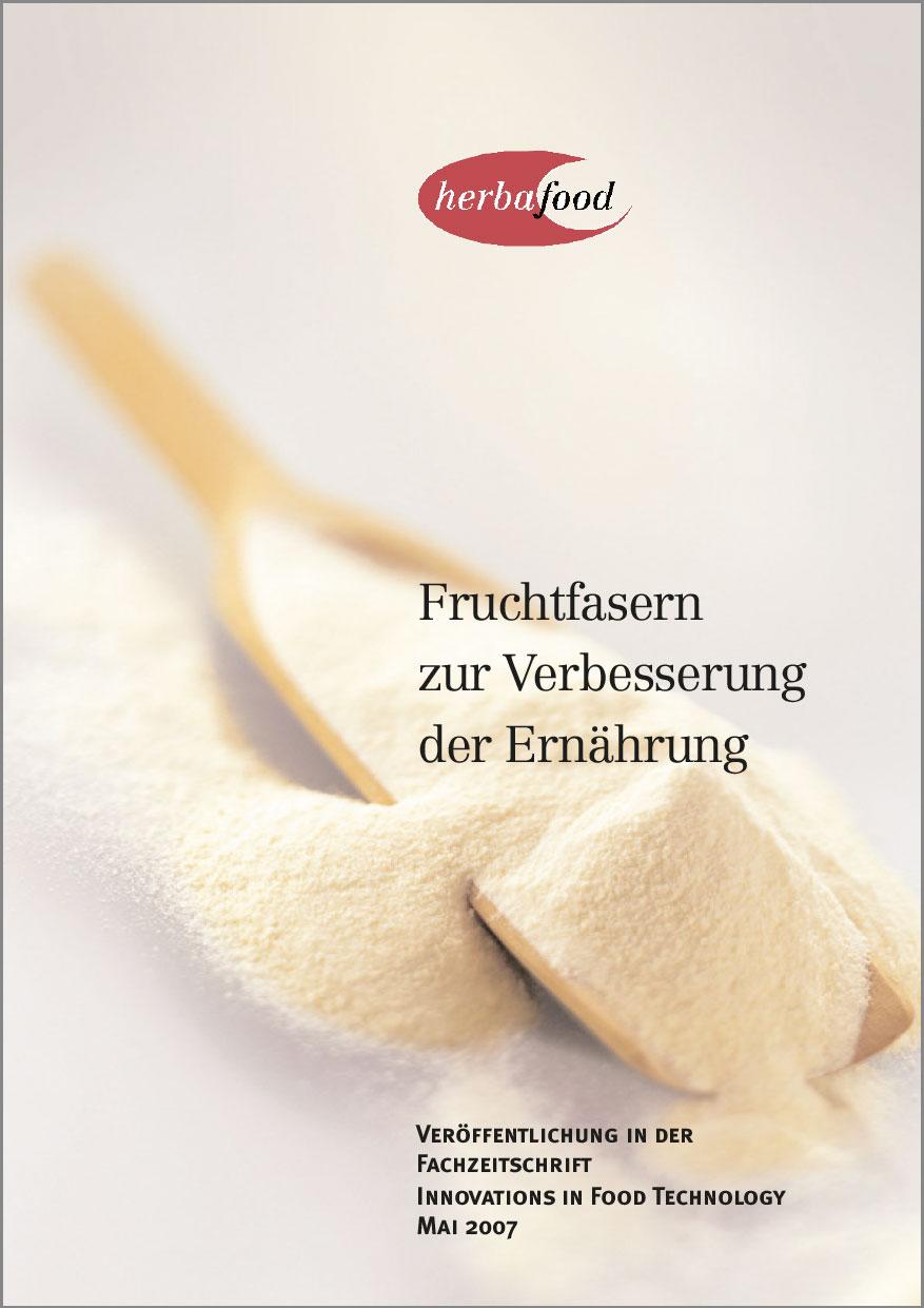Fruchtfasern zur Verbesserung der Ernährung  Format: PDF - Größe: ca. 0,2 MB