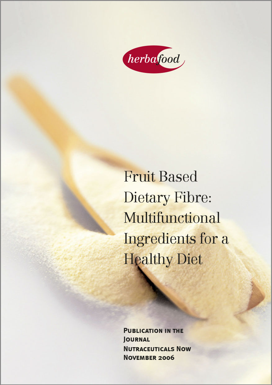 Fruit Based Dietary Fibre:  Multifunctional Ingredients for a Healthy Diet  Format: PDF - Size: approx. 0.4 MB