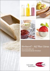 Herbacel®-AQ® Plus Citrus Die funktionelle und hochwasserbindende Citrusfaser Format: PDF - Größe: ca. 1,0 MB