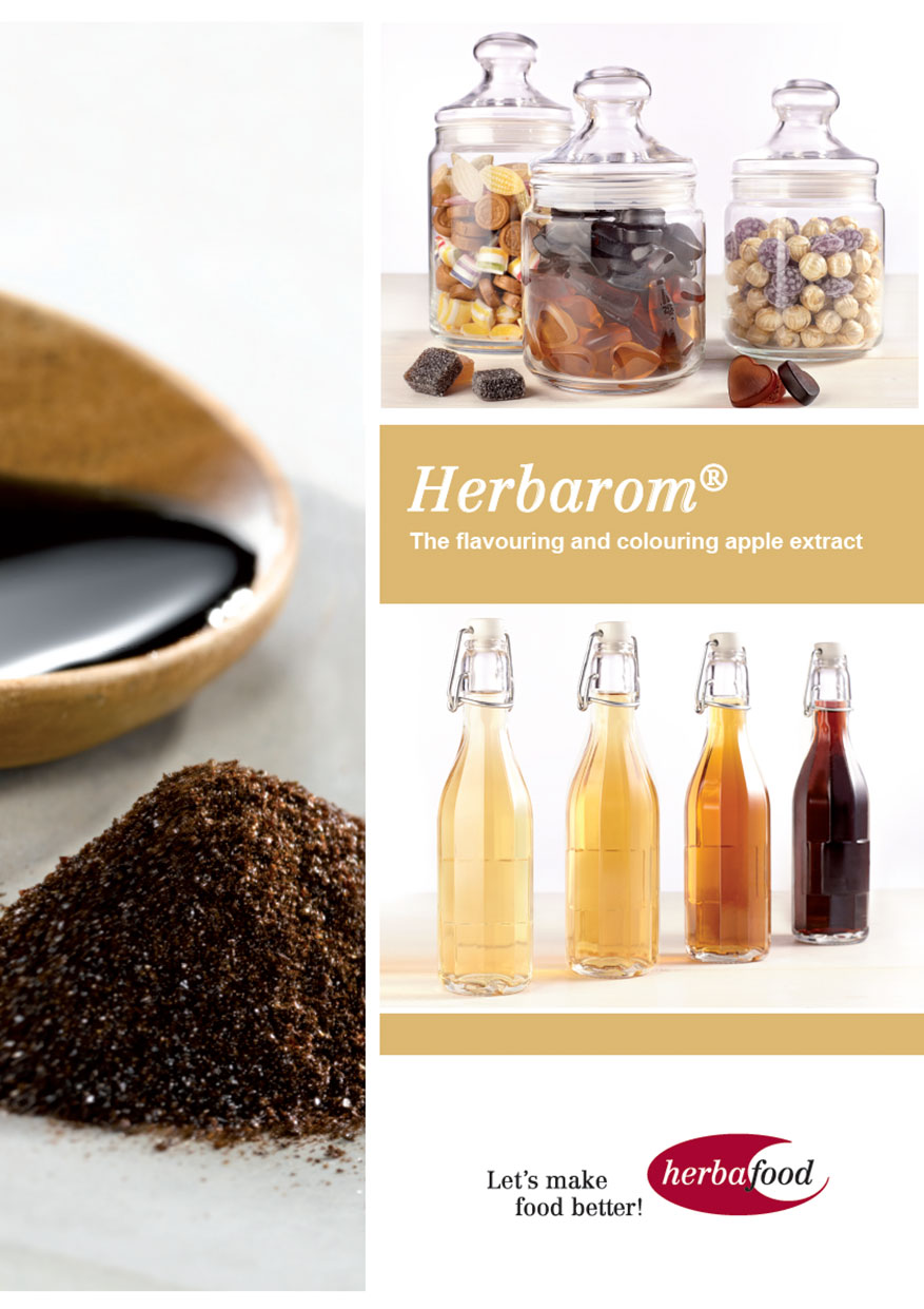 Flyer: Herbarom – The flavouring and colouring apple extract  Format: PDF Size: approx. 1 MB