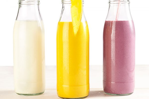 Milk mix, whey and soured milk beverages