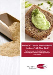 Herbacel® Classic Plus AF 60/100 und Herbacel® AQ® CA-U Verbesserung der der Verarbeitungs- und Gebäckeigenschaften          von Roggenteigen und -broten  Download Format: PDF - Größe: ca. 1,0 MB