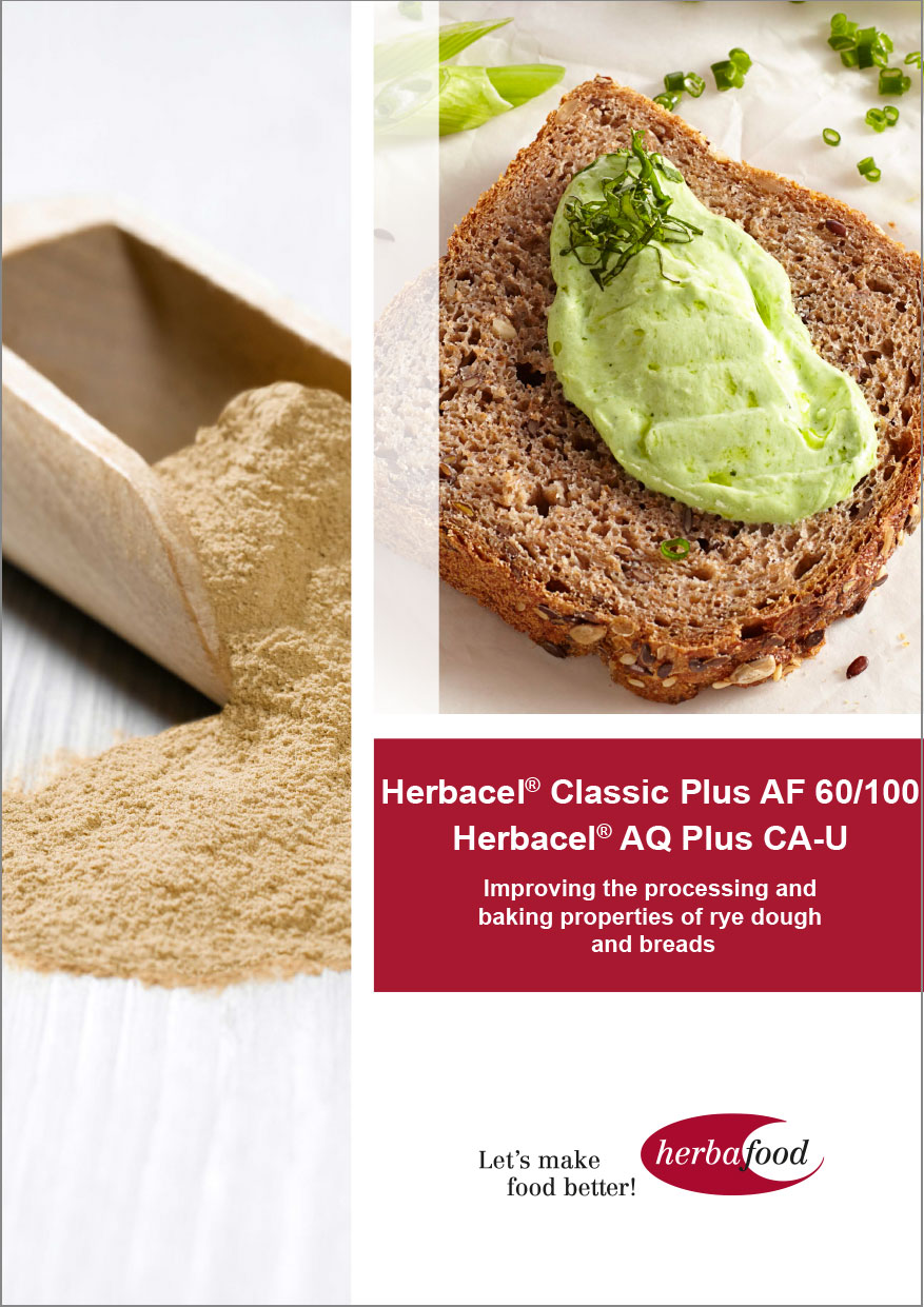 Herbacel® Classic Plus AF 60/100 and                 Herbacel® AQ® Plus CA-U – Improving the processing   and baking properties of rye dough and breads  Format: PDF - Size: ca. 1.0 MB