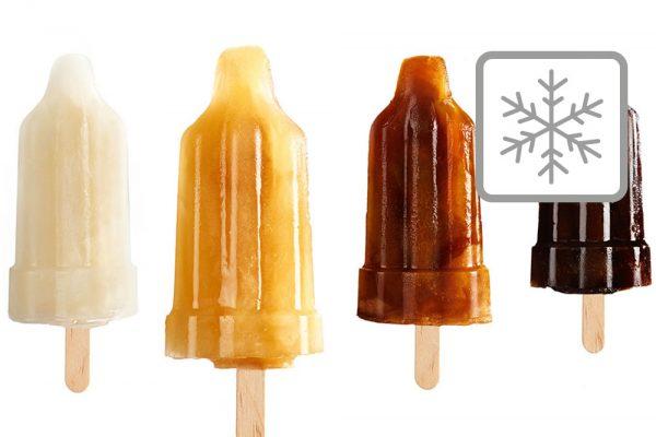 Wasserbasiertes Eis und Slusheis