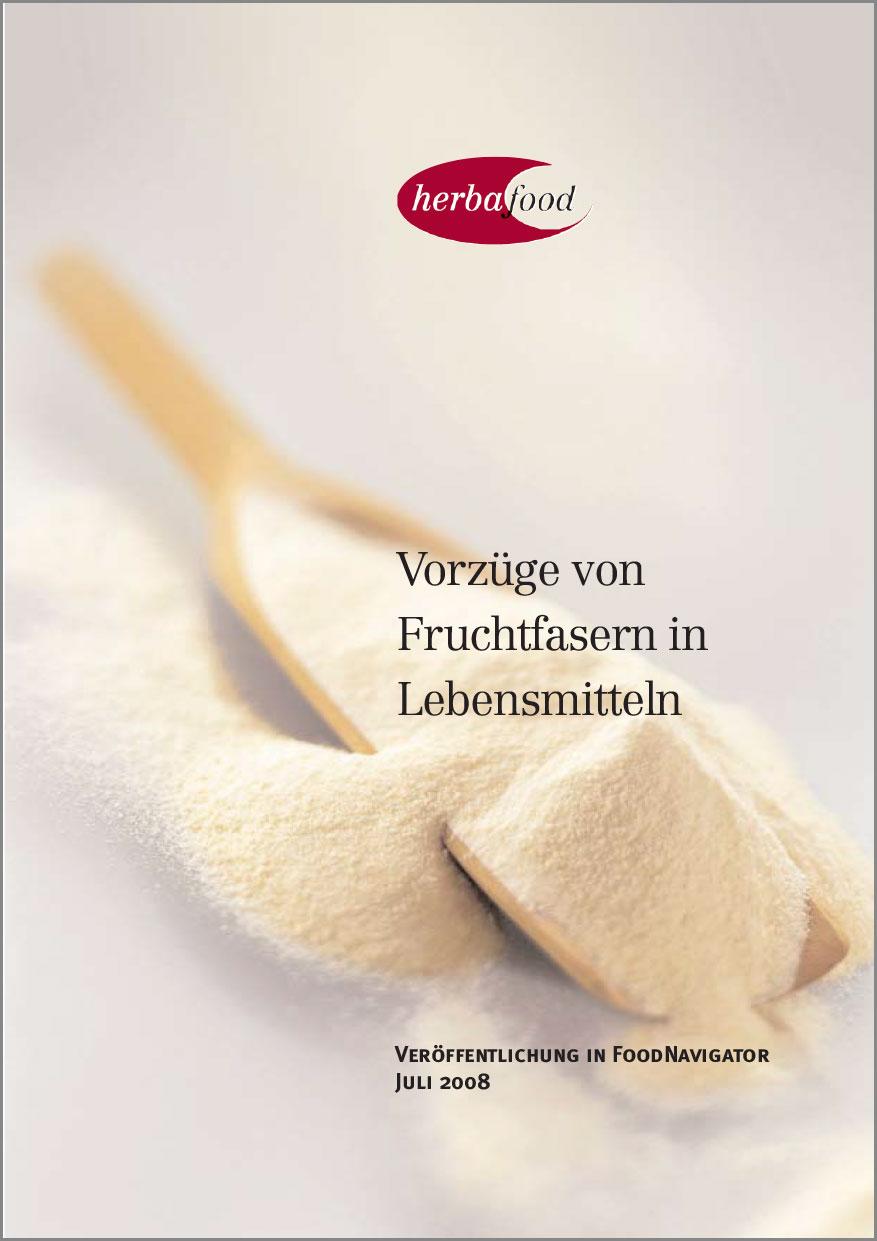 Vorzüge von Fruchtfasern in Lebensmitteln  Format: PDF - Größe: ca. 0,1 MB