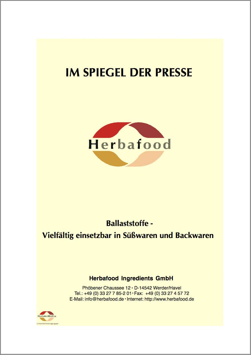 Ballaststoffe – Vielfältig einsetzbar in Süßwaren und Backwaren  Format: PDF - Größe: ca. 0,2 MB