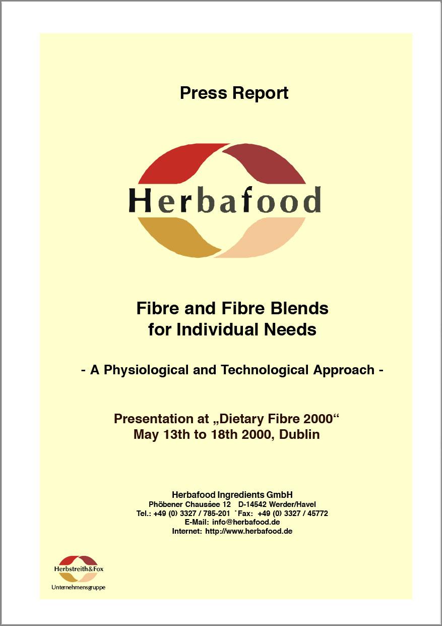 Ballaststoff-Kongress in Dublin 2000: Ballaststoffe und Ballaststoffmischungen für individuelle Anforderungen - Ein physiologischer und technologischer Ansatz  Format: PDF - Größe: ca. 0,2 MB