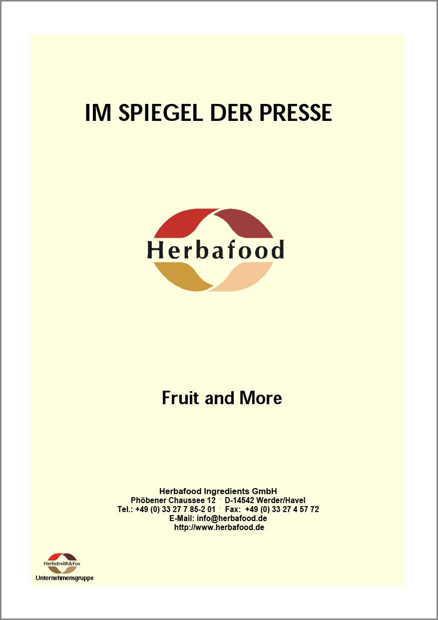 Fruit and More - Einsatz von Herbacel® -AQ® Plus Fruchtfasern in Frühstücksprodukten  Format: PDF - Größe: ca. 0,2 MB