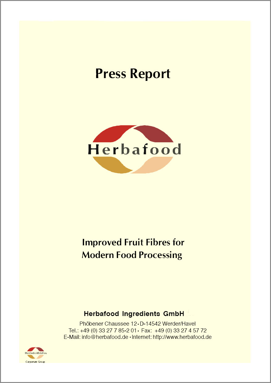 """Improved Fruit Fibres for Modern Food Processing""  Format: PDF - Size: approx. 0.2 MB"