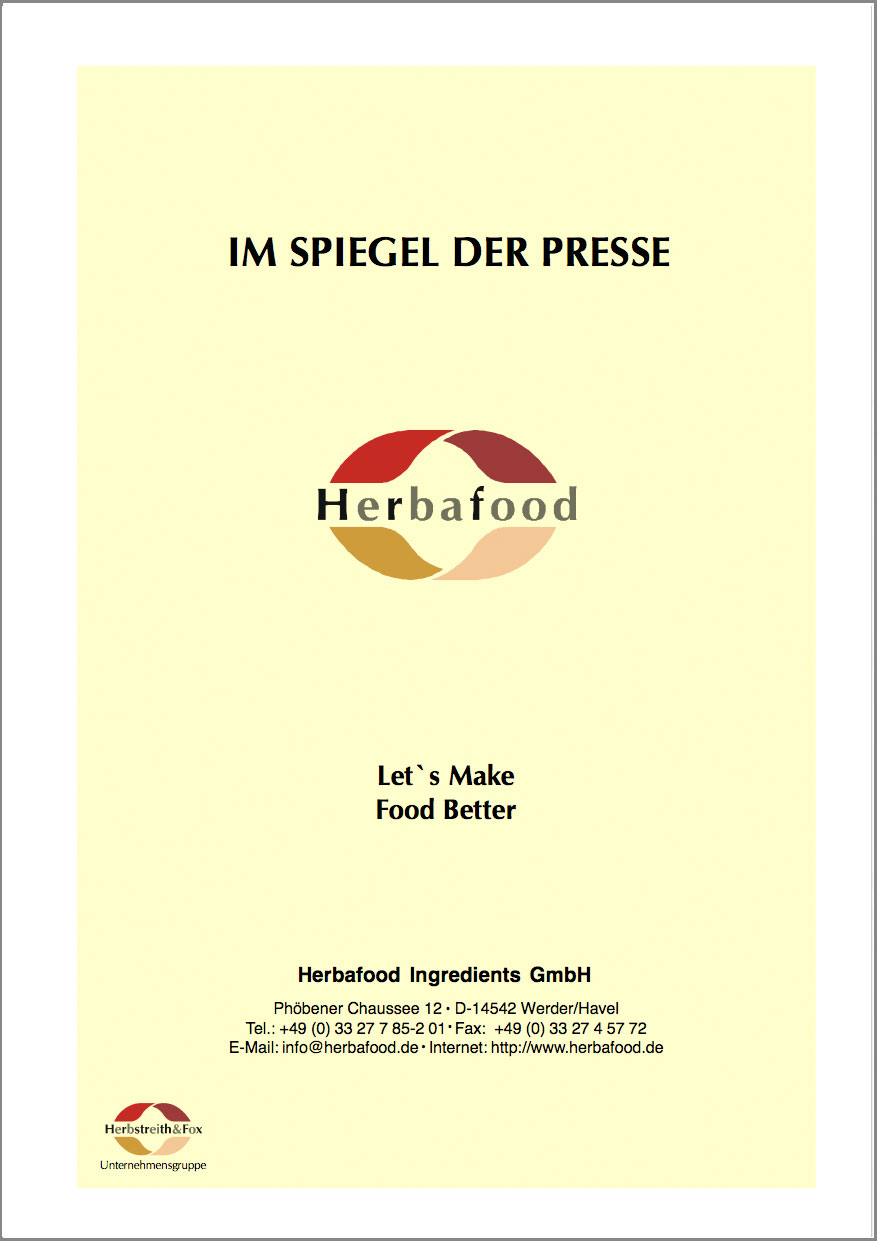 """Let's Make Food Better!"" (Functional Food)  Format: PDF – Größe: ca. 0,2 MB"
