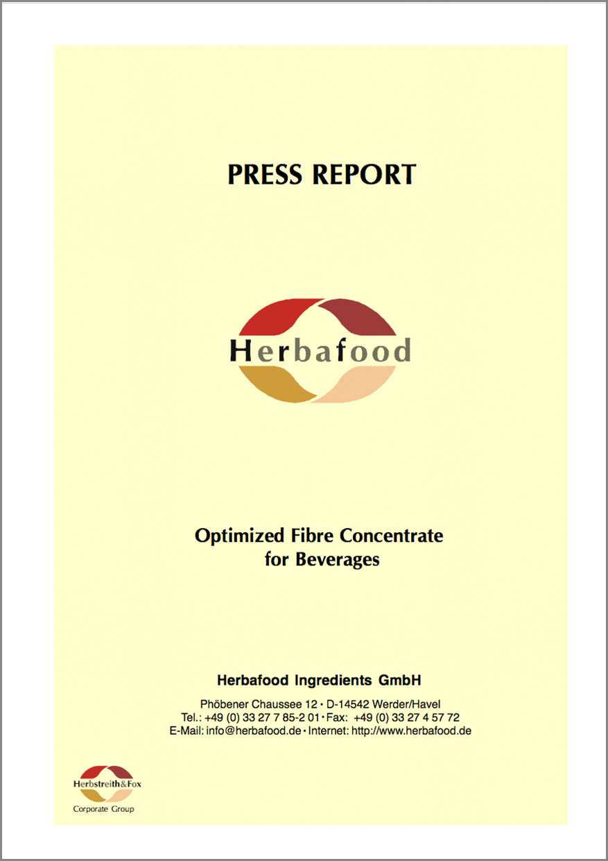 Optimized Fibre for Beverages (low viscous apple pectin)  Format: PDF - Size: approx. 0.2 MB
