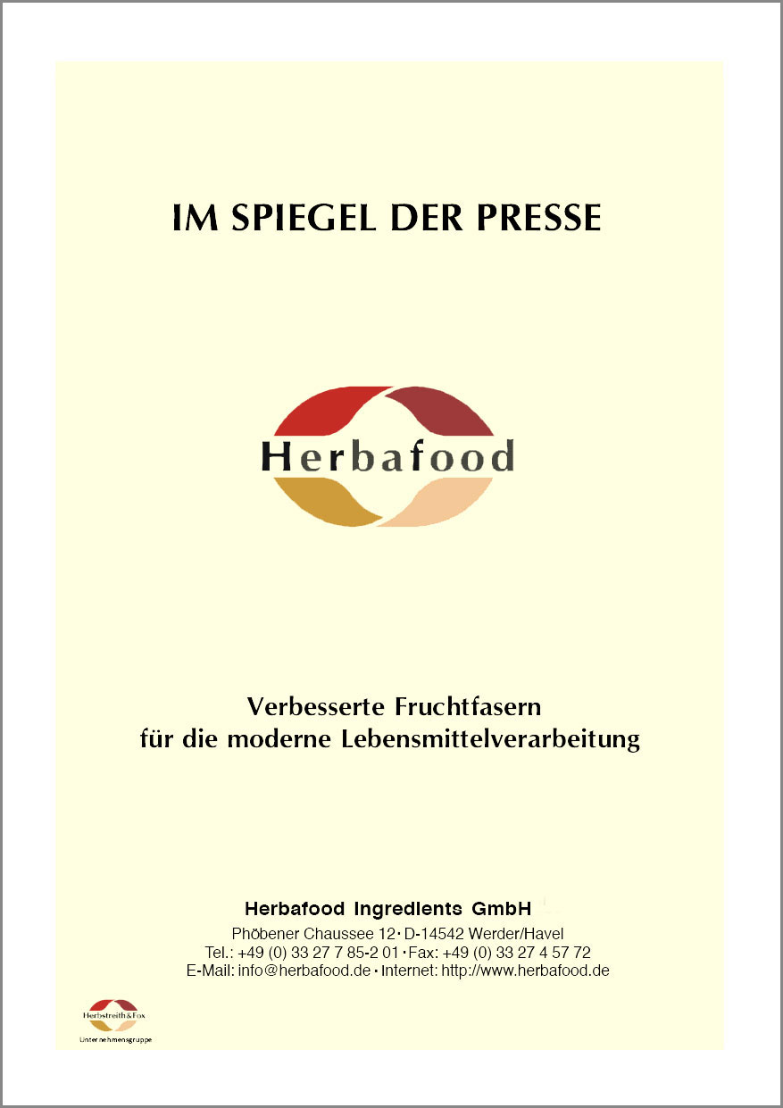 Verbesserte Fruchtfasern für die moderne Lebensmittelverarbeitung  Format: PDF - Größe: ca. 0,2 MB