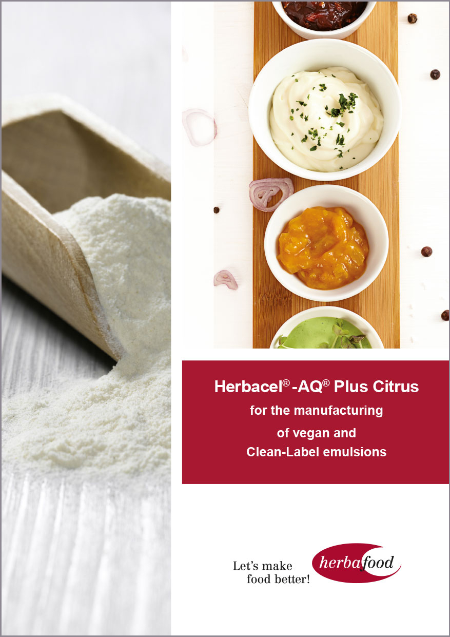 Herbacel® - AQ® Plus Citrus – for the manufacturing of vegan and Clean-Label emulsions  Format: PDF Size: approx. 1.0 MB