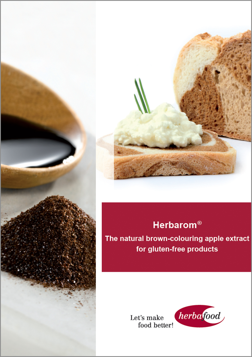 Herbarom® – The natural brown-colouring apple extract for gluten-free products (Format: PDF Size: approx. 1.2 MB)