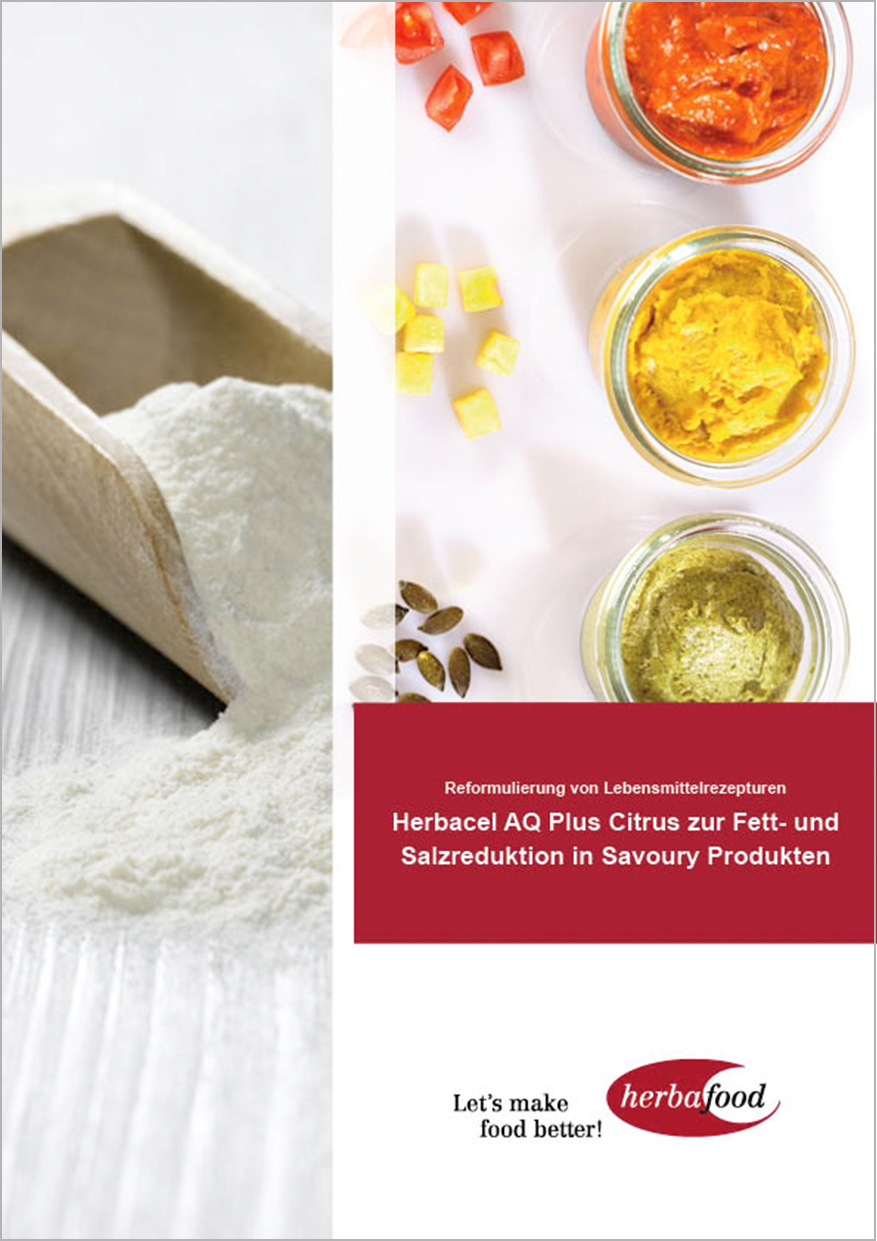 Herbacel® AQ® Plus Citrus zur Fett- und Salzreduzierung (Format: PDF – Größe: 700 KB)